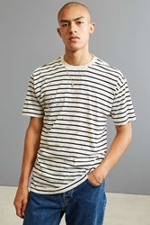 Urban Outfitters Uo Splatter Brenton Stripe Tee Black And White