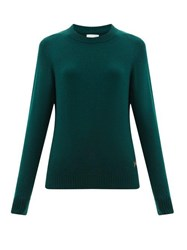 Barrie B Plaque Cashmere Sweater Dark Green