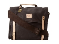 Will Leather Goods Wax Canvas Messenger Brown Messenger Bags
