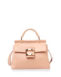 Roger Vivier Viv Cabas Medium Top Handle Satchel Bag Nude