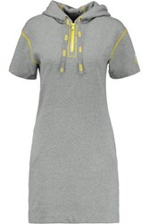Marc By Marc Jacobs Cotton Jersey Hooded Mini Dress Gray