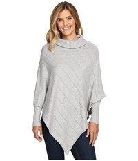 Aventura Clothing Mariska Poncho Heathered Grey Women's Coat Gray