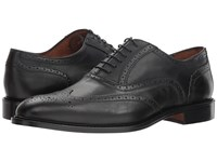 Massimo Matteo 6 Eye Wing Tip Midnight Black Lace Up Wing Tip Shoes