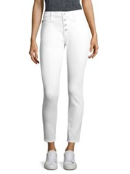 Ag Jeans Farrah High Rise Button Fly Ankle Skinny White