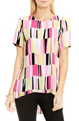Vince Camuto Women's Graphic High Low Blouse
