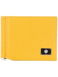 Dolce And Gabbana Crown Logo Plaque Cardholder Yellow Orange
