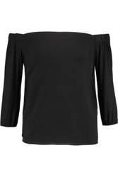 Bailey 44 Off The Shoulder Jersey Top Black