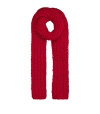 Awake Chunky Wool Scarf Red