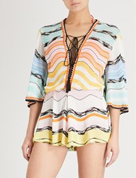 Missoni Striped Woven Playsuit Multi