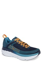 Hoka One One Bondi 6 Running Shoe Black Iris Storm Blue
