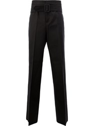 Yang Li Belted Tailored Trousers Black