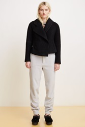 Opening Ceremony Morgane Bonded Wool Asymmetrical Jacket Black