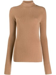 Barbara Bui Roll Neck Jumper Brown