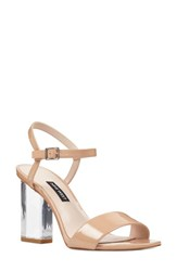 Nine West Feisty Ankle Strap Sandal Nude Suede