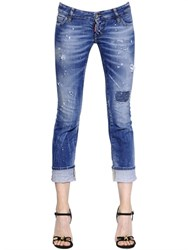 Dsquared2 Sexy Rolled Up Stretch Denim Jeans