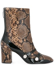 N 21 No21 Snakeskin Effect Boots Brown