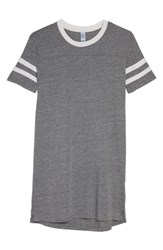 Alternative Apparel Stadium Eco Jersey T Shirt Dress Eco Grey Eco Blue