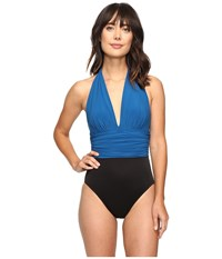 Magicsuit Solids Yves One Piece Ocean Women's Swimsuits One Piece Blue