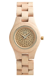 Wewood 'Moon Crystal' Wood Bracelet Watch 29Mm Beige