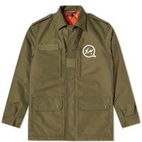 Denim By Vanquish And Fragment Military Jacket Green