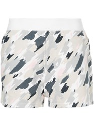 Loveless Scribble Camouflage Shorts White
