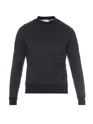 Moncler Grenoble Quilted Jersey Crew Neck Sweater