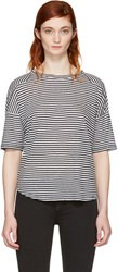 Rag And Bone White Navy Striped Valley T Shirt