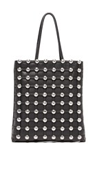 Alexander Wang Dome Stud Cage Shopper Tote Black
