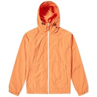 Aspesi Nylon Garment Dyed Hooded Jacket Orange