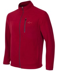 Greg Norman For Tasso Elba Men's Big And Tall 5 Iron Fleece Jacket Only At Macy's Carmine Red