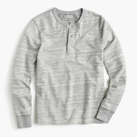 J.Crew Space Dyed French Terry Henley Marled Graphite