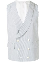 Gabriele Pasini Double Breasted Waistcoat White