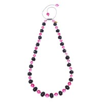 Lola Rose Mobi Necklace Pink Quartzite Violet Rock Crystal