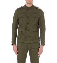 Dsquared Kaban Military Stretch Cotton Jacket Green