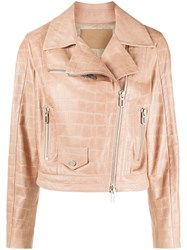 Drome Crocodile Effect Biker Jacket 60