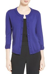 Kate Spade Women's New York 'Somerset' Cotton Blend Cardigan Nightlife Blue