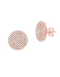 Lord And Taylor Cubic Zirconia Circular Earrings Rose Gold
