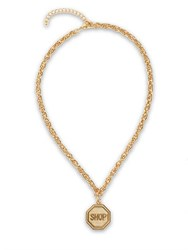 Moschino Shop Sign Necklace