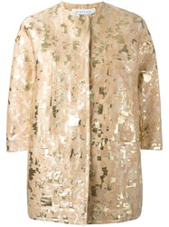 Gianluca Capannolo Patterned Jacket Metallic