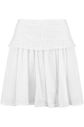 Rag And Bone Lakewood Broderie Anglaise Cotton Mini Skirt White