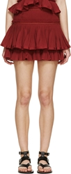 Isabel Marant Red Tiered Glitz Skirt