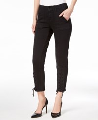 Vince Camuto Lace Up Skinny Jeans Rich Black