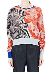 Preen Aria Cropped Sweatshirt Red
