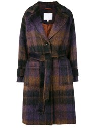Lala Berlin Janne Check Coat Brown