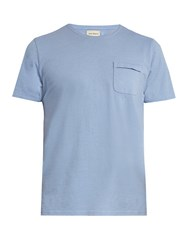 Oliver Spencer Envelope Crew Neck T Shirt Light Blue