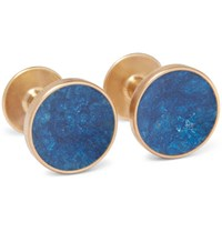 Alice Made This Bayley Gold Tone Prussian Patina Cufflinks