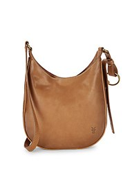 Frye Madison Leather Crossbody Bag Tan