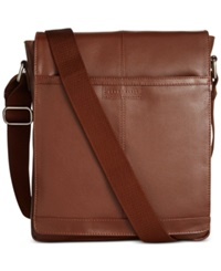 Perry Ellis North South Leather Crossbody Bag
