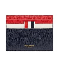 Thom Browne Pebble Grain Leather Double Sided Cardholder Blue