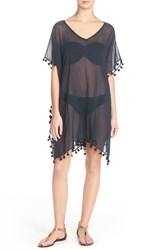 Women's Seafolly 'Amnesia' Cotton Gauze Cover Up Caftan Blue Indigo